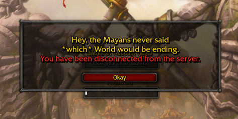 Disconnected been wow have you local server